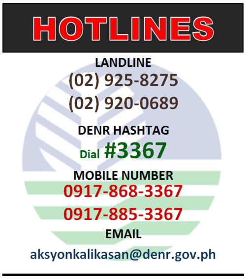 DENR Hotline as of Sept2019